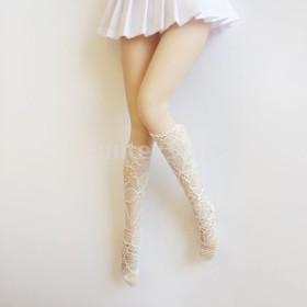 1/6スケールの長いレースストッキング人形靴下