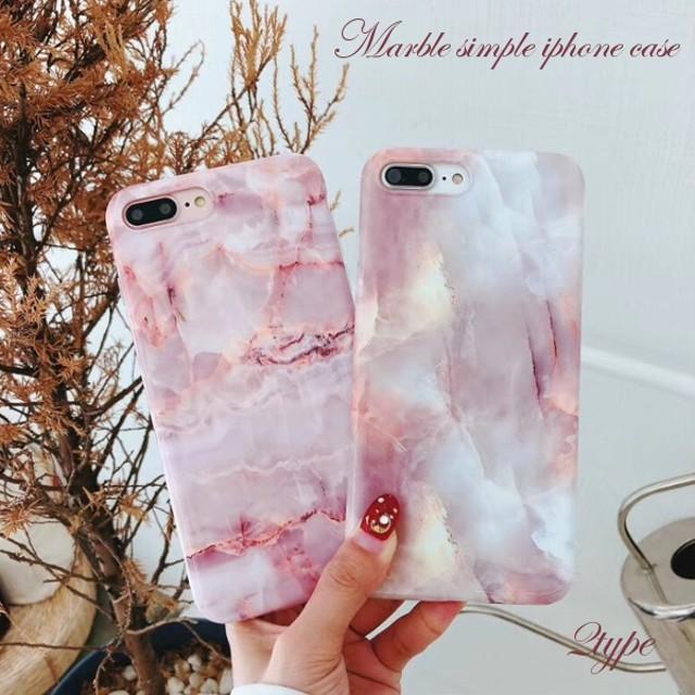 iPhoneケース 大理石 マーブル ピンク iPhoneXS iPhoneXR iPhone8 iPhone7 iPhone6S プラス plus 携帯スマホ ケース カバー