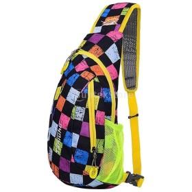 ノーブランド品 ユニセックス アウトドア スポーツ ショルダーバッグ キャンプ ハイキング バックパック スリング バッグ 全7色選ぶ - カラー1