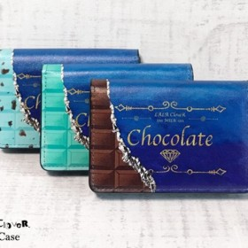 チョコレート/チョコミント 名刺入れ / chocolate お菓子 カードケース