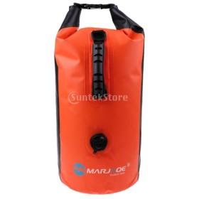防水バッグ ドライバッグ リュック アウトドアバッグ ショルダーバッグ プールバッグ 全4色 - オレンジ