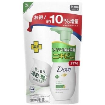 【10%増量品】 ユニリーバ ダヴ ニキビケア クリーミー泡洗顔料 つめかえ用 増量品 (155ml)