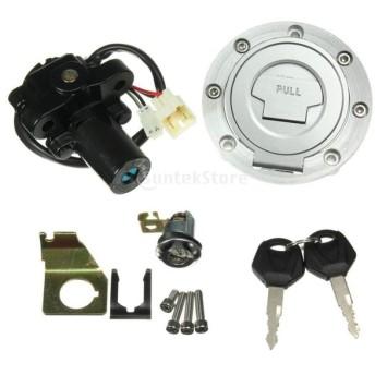 ヤマハ YZF 対応 オートバイ 部品 燃料タンクキャップ イグニッションスイッチ シートロック キー付属