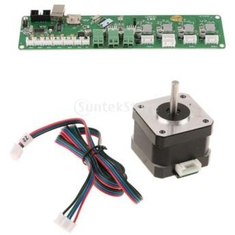3Dプリンタに対応 ステッパーモーターNema 17 40mm 1.8A Melzi2.0コントロールメインボード SL42STH40-1684Aステッパ・モータ