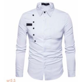 シャツ メンズ ワイシャツ シャツ yシャツ カジュアルシャツ メンズ 長袖 シャツ ホワイト