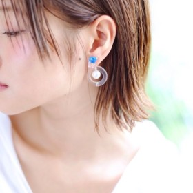syrupshabom pierce/earring BLUE