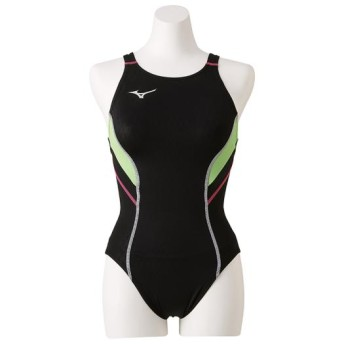 MIZUNO SHOP [ミズノ公式オンラインショップ] 競泳用ローカット(オープン)[レディース] 80 ブラックxライム N2MA8240