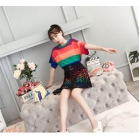 セットアップ レディース 少女 夏 韓国風 2点セット カジュアル スカート ファッション 学生 おしゃれ 上下セット 清楚系