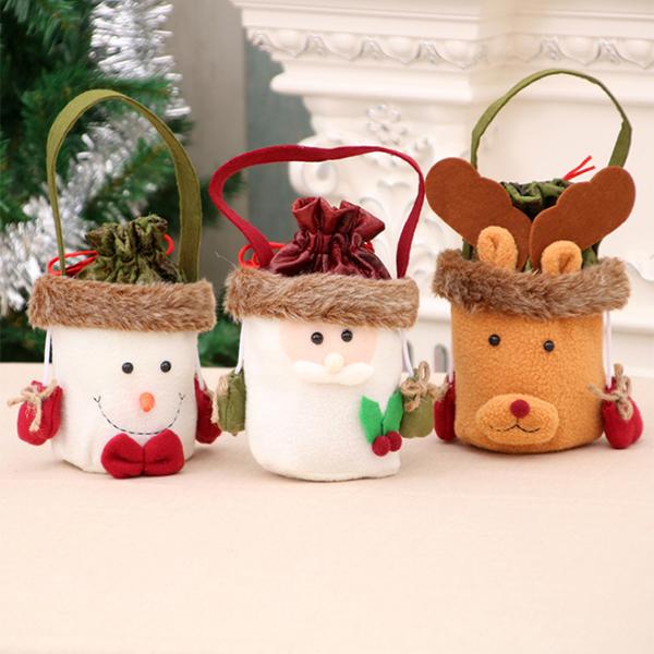 聖誕飾品 聖誕糖果禮品提袋 派對裝飾 麋鹿雪人 交換禮物 聚會居家 平安夜 節慶萬用 慶祝玩具【PMG287】收納女王