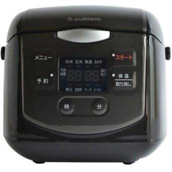 A-Stage SCR-H40B 4合炊きマイコン式炊飯器 ブラック SCRH40B