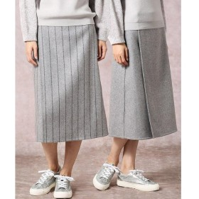 COMME CA / コムサ ストライプリバーシブルラップスカート
