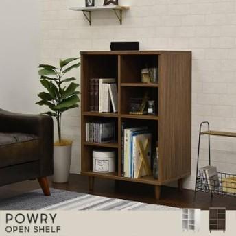 POWRY(ポーリー) ラック シェルフ(60cm幅) ホワイト/ブラウン