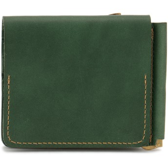 SLOW SLOW スロウ 財布 ウォレット toscana -compact wallet(money clip with coin & card pocket)- 財布,グリーン