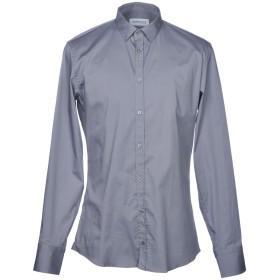 《期間限定セール開催中!》HAMAKI-HO メンズ シャツ グレー M コットン 97% / ポリウレタン 3%