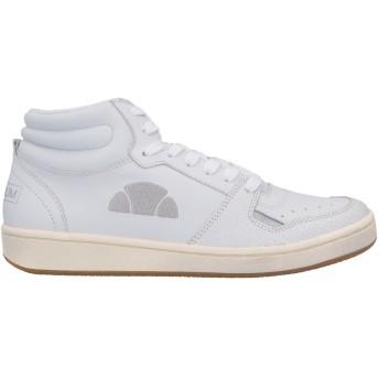 《期間限定セール開催中!》ELLESSE メンズ スニーカー&テニスシューズ(ハイカット) ホワイト 41 革 / 紡績繊維