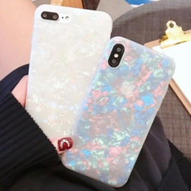 6ba4d23eaa iPhone ケース カバー 10 x 8 7 6 6s plus ラメ シェル キラキラ シンプル カワイイ 貝殻