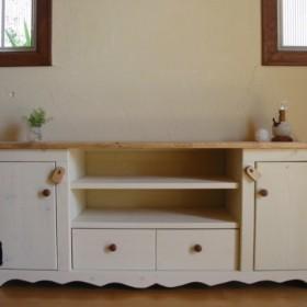 カントリー家具 TVボード(W120)シンプル(H50)TM 受注製作