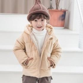 男の子あったかフード付きジャンパー ベージュ 韓国 子供服 男の子 子供 ジャンバー 子供服 男の子 アウター