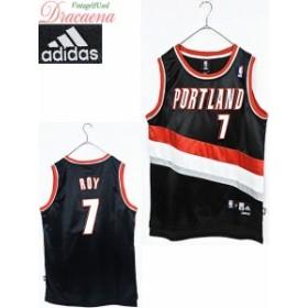 レディーストップス古着 adidas アディダス スポーツ NBA ポートランド・トレイルブレイザーズ バスケ 黒 メッシュ タンク M
