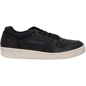 《期間限定セール開催中!》ELLESSE メンズ スニーカー&テニスシューズ(ローカット) ブラック 40 革 / 紡績繊維