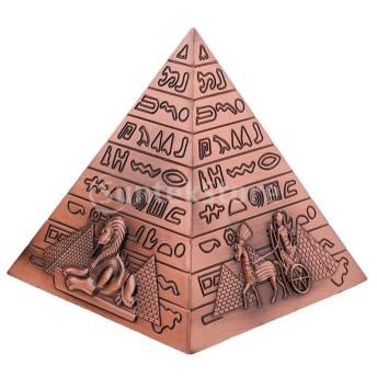 金属工芸品エジプトピラミッド建物モデル本棚の装飾