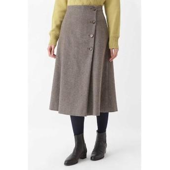 HUMAN WOMAN / ヒューマンウーマン ライトモールスキンボタンディテールスカート