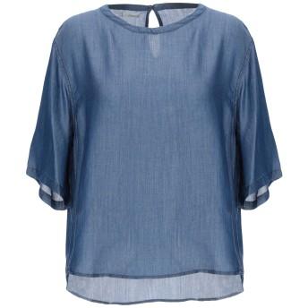 《期間限定セール開催中!》(+) PEOPLE レディース デニムシャツ ブルー 38 指定外繊維(テンセル) 100%