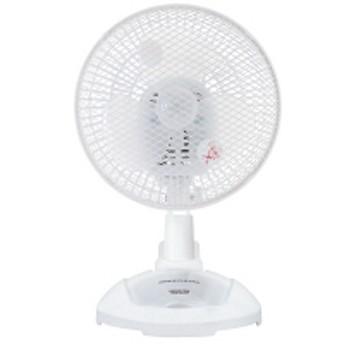 【アウトレット】YAMAZEN 18cm卓上&クリップ扇風機 白 YDS-CA184-W