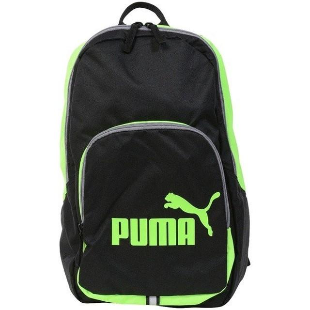 (セール)PUMA(プーマ)スポーツアクセサリー バッグパック PUMA フェイズ バックパック 7358918 ジュニア グリーン ゲッコ/ブラック