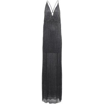 《セール開催中》FISICO レディース ロングワンピース&ドレス ブラック S 金属 60% / ポリエステル 40%