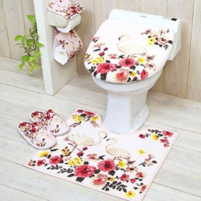 便座シート 日用品雑貨 トイレ用品 フラミンゴ トイレマットシリーズ