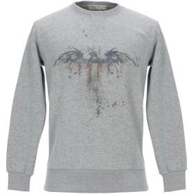 《期間限定セール開催中!》ATHLETIC VINTAGE メンズ スウェットシャツ グレー L コットン 100%