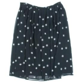 MK MICHEL KLEIN  / ミッシェルクライン レディース スカート 色:黒xシルバー(総柄) サイズ:36(S位)