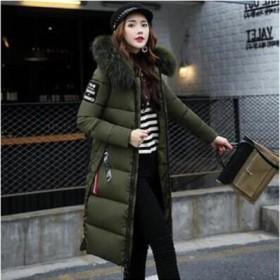 2018冬韓国ファッション /コート ジャケット レディース コート ロング丈 ダウン風コート コート 大きいサイズ あったか 厚手 冬 無地 冬アウター