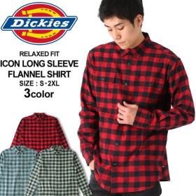 ディッキーズ シャツ 長袖 チェック柄 メンズ ネルシャツ|大きいサイズ USAモデル Dickies|長袖シャツ フランネルシャツ XL XXL LL 2L 3L