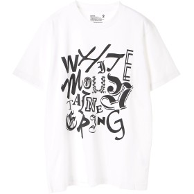 White Mountaineering MIXED TYPOGRAPHY PRINTED T-SHIRT Tシャツ・カットソー,ホワイト