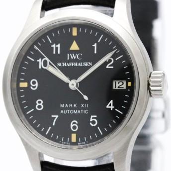 IWC マーク12 XII パイロットウォッチ ステンレススチール レザー 自動巻き レディース 時計 IW442101