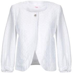 《期間限定 セール開催中》BLUGIRL FOLIES レディース テーラードジャケット ホワイト 40 コットン 70% / ポリエステル 28% / ナイロン 2%