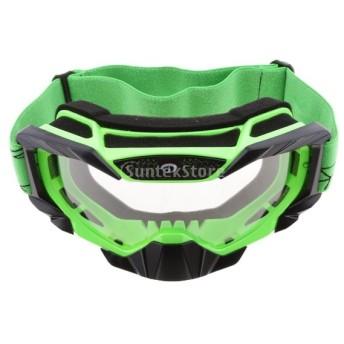 全5色選べる アンチフォグ ゴーグル ユニセックス クリア レンズ オートバイ ホコリプルーフ スキー スノーボード - 緑