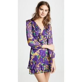 サローニ ドレス デイドレス レディース【Saloni Jodie Dress】Violet Sweetpeas