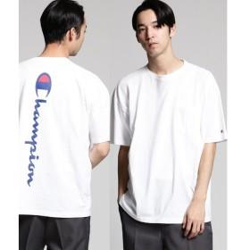 tk.TAKEO KIKUCHI / ティーケー タケオキクチ Champion for tk.TAKEO KIKUCHI バックプリントTシャツ