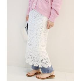 JOURNAL STANDARD ヘビーレースタイトスカート◆ ホワイト 36