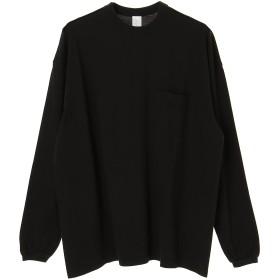 UNDECORATED コットン オーバーサイズTシャツ Tシャツ・カットソー,ブラック