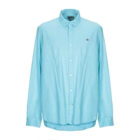 《送料無料》NAPAPIJRI メンズ シャツ ターコイズブルー 3XL コットン 100%