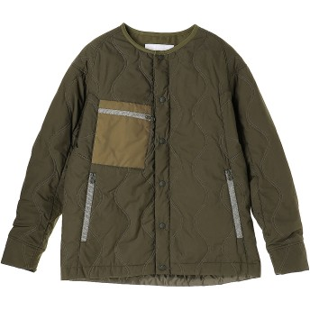 White Mountaineering PRIMALOFT QUILTED NO COLLAR JACKET その他 ジャケット・ブルゾン,カーキ