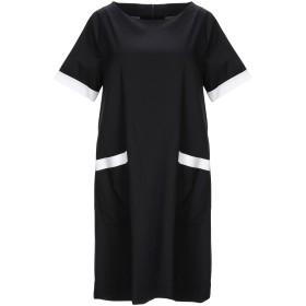 《期間限定 セール開催中》HOPE COLLECTION レディース ミニワンピース&ドレス ブラック S コットン 97% / ポリウレタン 3%