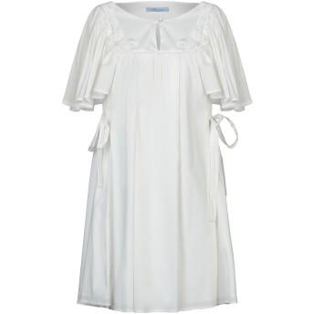 《9/20まで! 限定セール開催中》BLUMARINE レディース ミニワンピース&ドレス ホワイト 42 コットン 60% / ナイロン 37% / ポリウレタン 3%