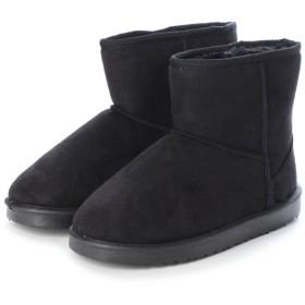 SFW サンエープラスフェミニン AAA+ feminine ふわっふわのボアが暖かくて快適な履き心地♪軽くて歩きやすいムートンブーツ/3519 (ブラック)