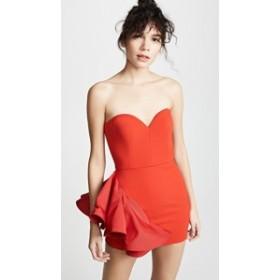 ヴァタニカ ドレス ナイトドレス レディース【Vatanika Ruffle Mini Dress】Red