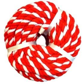 サトウ 紅白ロープ 太さ10mm 長さ20m ( 1コ入 )